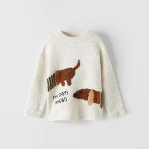 NWT 9-12 month Zara Dachshund sweater